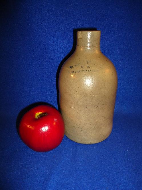 Little 1 Quart Stoneware Jug, West Troy Pottery, #4774