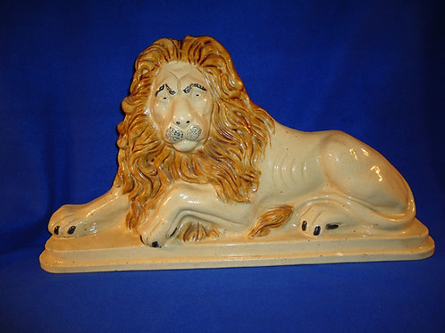 Monumental Stoneware Recumbant Lion Doorstop