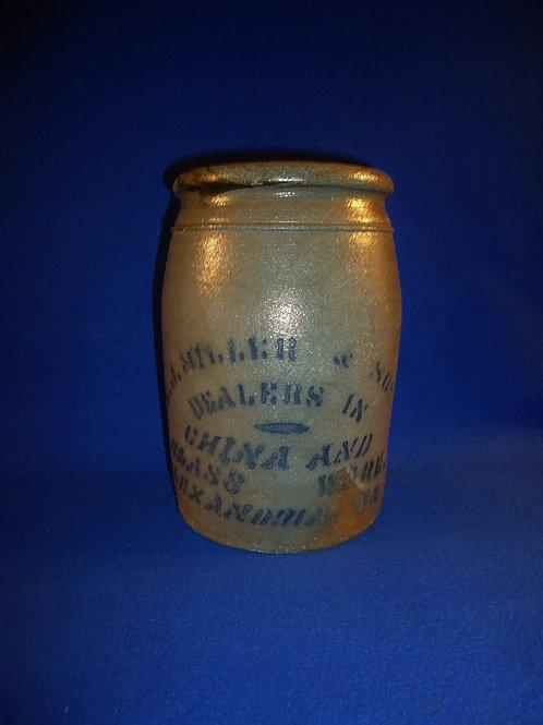 E. J. Miller, Alexandria, Virginia 1/2 Gallon Jar, att. Reppert of Greensboro