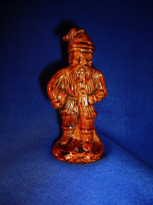 Mid-19th Century Yellow Ware Pepper Pot, Miner on Way to Work