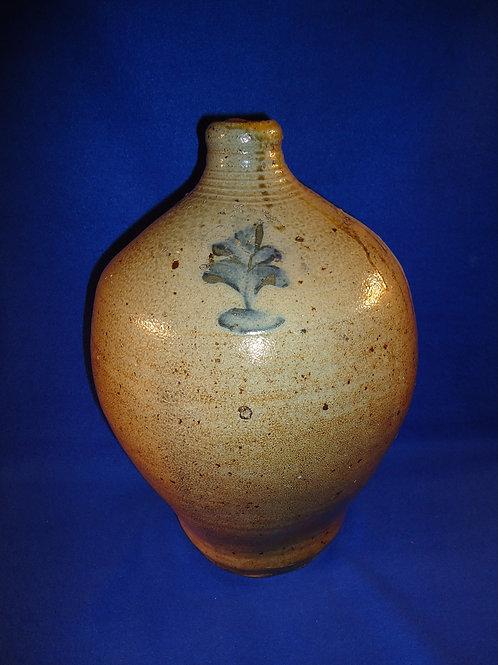 Circa 1810 Stoneware Ovoid Jug, att. David Clark, Cornwall, New York