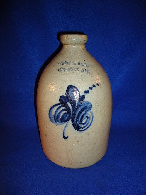Bacon & Bates, Fiskdale, Massachusetts Stoneware 1g Jug by Norton of Worcester