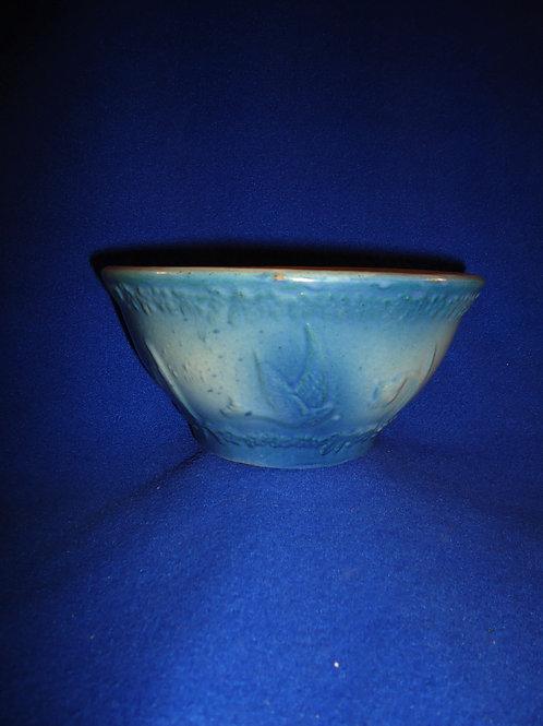 "Blue and White Stoneware Flying Birds Bowl, 7 1/4""  #5347"