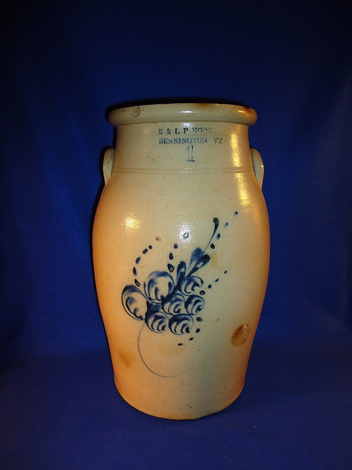 E. & L. P. Norton, Bennington, Vermont 4 Gallon Stoneware Churn