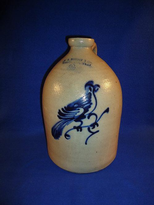 F. B. Norton, Worcester, Massachusetts 2g Stoneware Jug with Bright Bird #5039