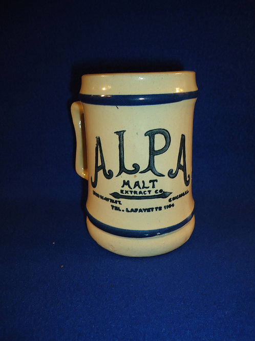 Blue and White Alpa Malt Extract, Chicago, Stoneware Mug
