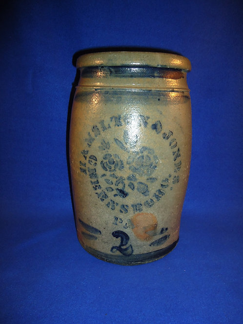 Hamilton and Jones,  Greensboro, Pennsylvania 2 Gallon Jar with Roses #4609