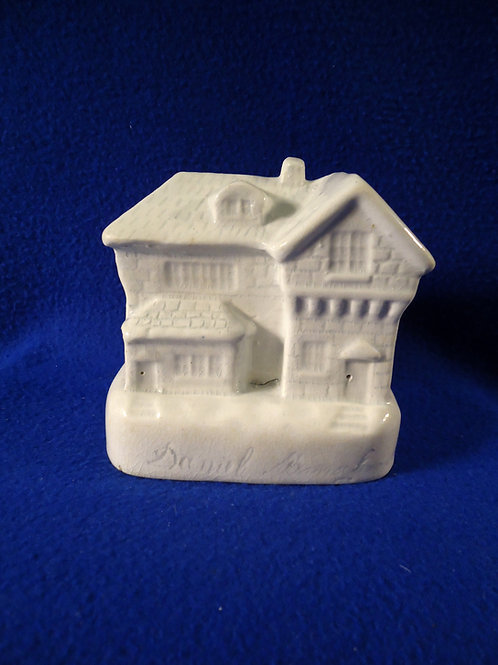 Dated 1866 and Maker Signed Staffordshire Stoneware Cottage Bank