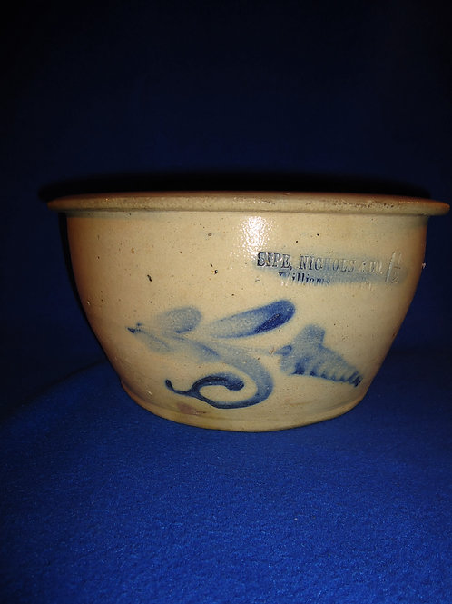 Sipe and Nichols, Williamsport, Pennsylvania Decorated Stoneware Bowl