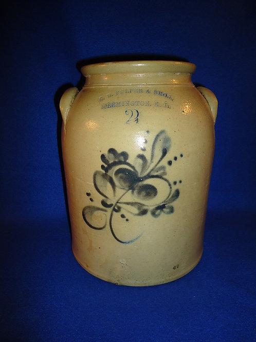 G. W. Fulper, Flemington, New Jersey 2 Gallon Stoneware Jar with Floral