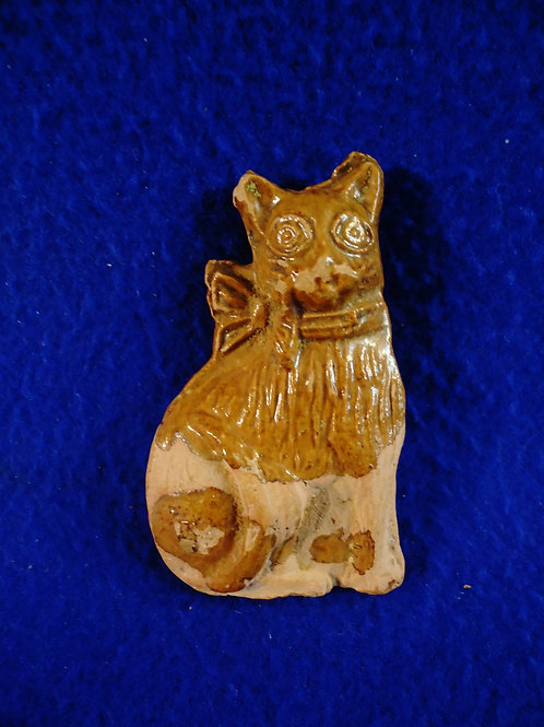 19th Century Bird Whistle in the Form of a Cat