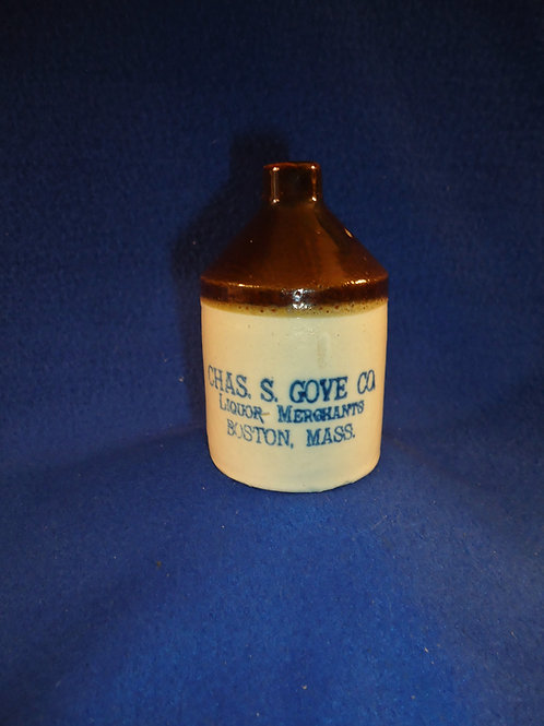 Charles Gove, Liquor Merchant, Boston, Massachusetts Stoneware Mini Jug
