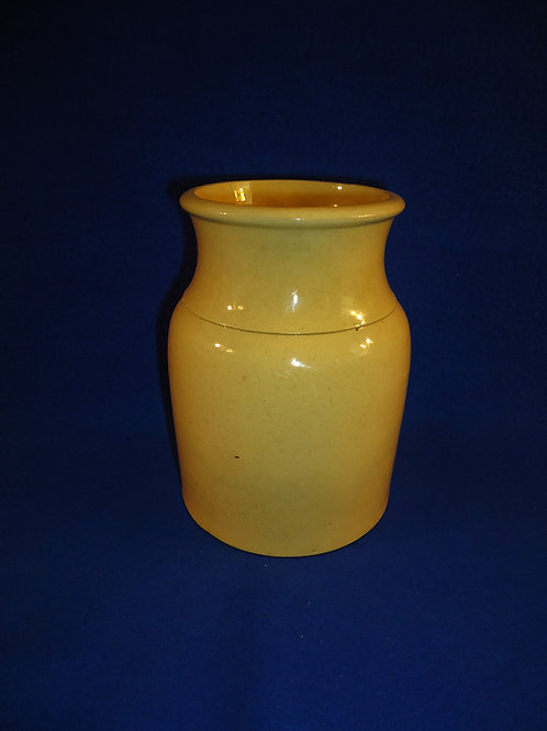 "6 1/4"" Yellow Ware Fruit Jar #5289"