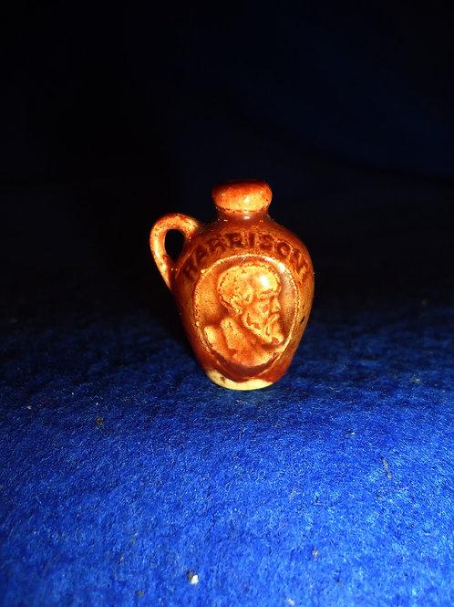 Harrison and Morton, Stoneware Mini Jug- 1888 Presidential Election