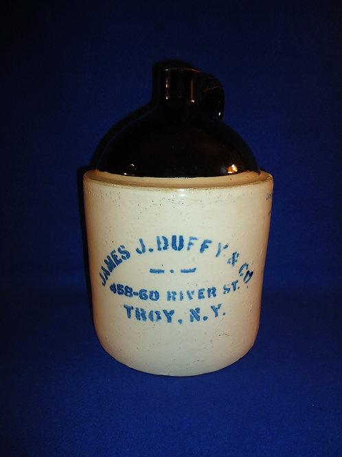 James J. Duffy, Troy, New York Stoneware 1 Gallon Liquor Jug #5865