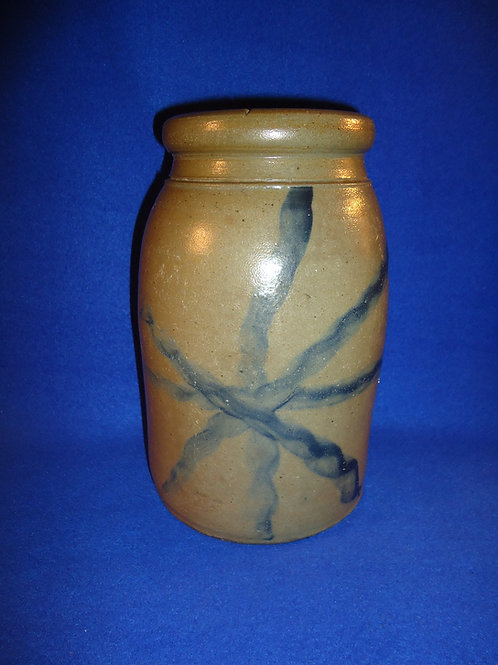 Circa 1870 Stoneware Wax Sealer with Star, att. Palatine, West Virginia