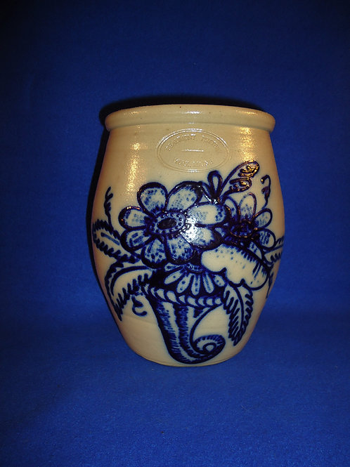 Beaumont Pottery, York, Maine Stoneware Cream Pot with Cornucopia #5036