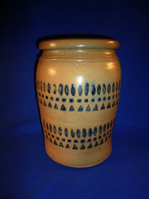 A. P. Donaghho, Parkersburg, West Virginia Stoneware 2 Gallon Jar with 2 Zippers