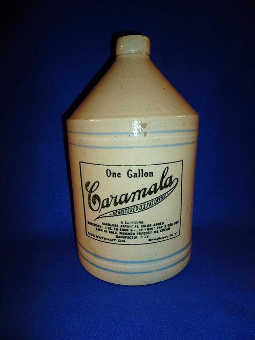 Caramala Ice Cream Color, Rex Extract, Brooklyn, NY Stoneware 1 Gallon Jug