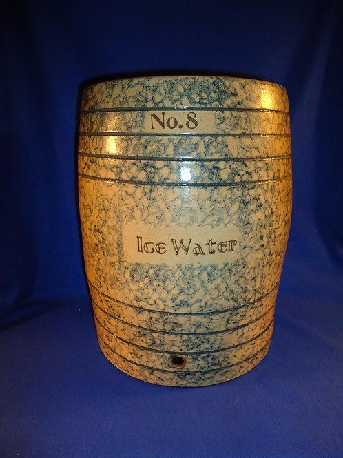 Fulper Pottery, Flemington, New Jersey Stoneware Spongeware 8g Ice Water Cooler