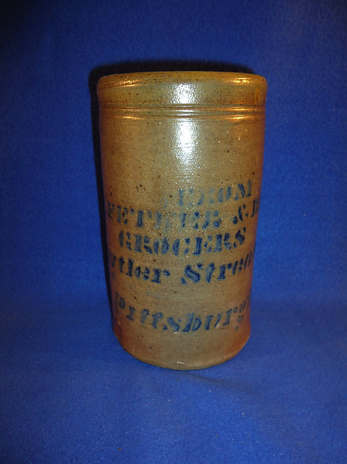 J. Fetner, Grocer, Pittsburgh, Pennsylvania Stoneware Wax Sealer #5328
