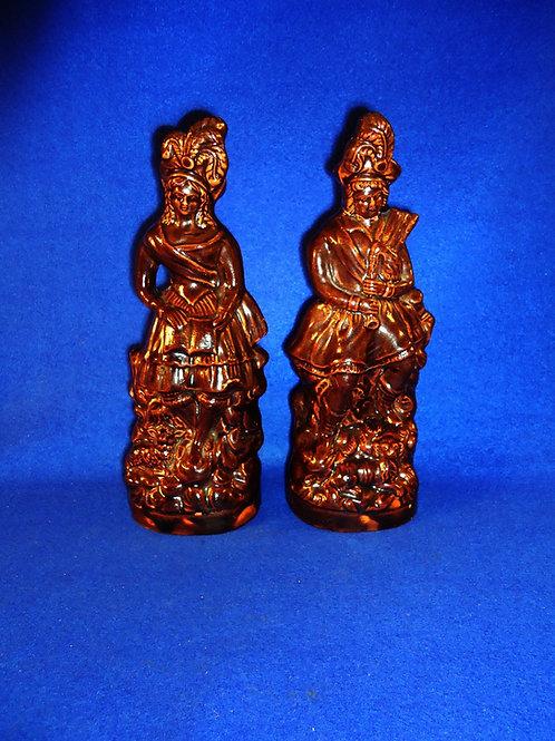 Scare Pair of Stoneware Scottish Highlander Figurals by William Farrer of Geddes