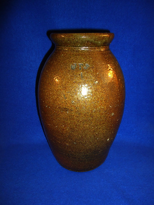 James Franklin Seagle, Lincoln County, North Carolina Stoneware Preserve Jar
