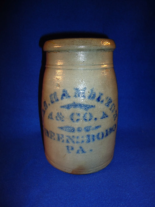 "James Hamilton, Greensboro, Pennsylvania Stoneware 8"" Wax Sealer"
