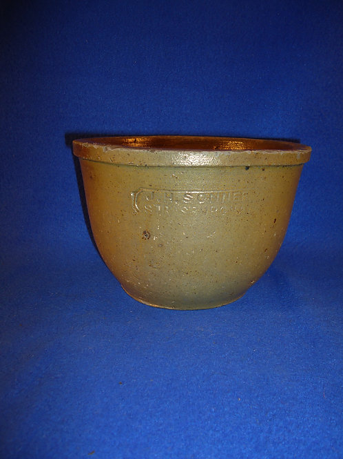 J. H. Sonner, Strasburg, Virginia Stoneware 1/2 Gallon Bowl, #4947