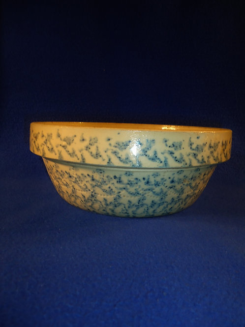 Blue and White Stoneware Spongeware Bowl, Logan Pottery, Logan, Ohio