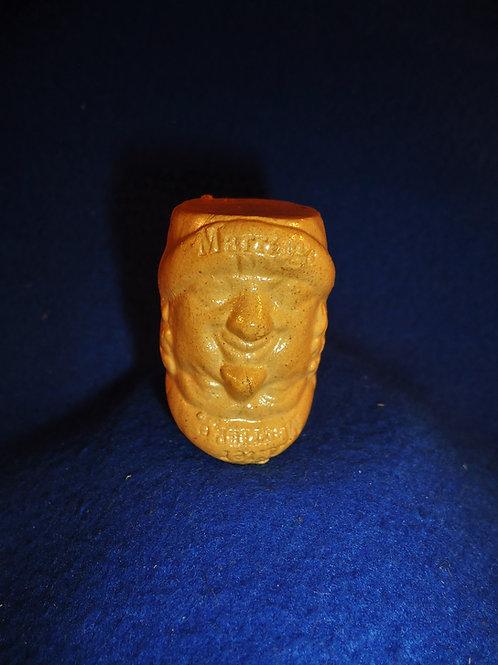 Comical British Stoneware Miniature Mug with Bad Attitude toward Marriage  #4428