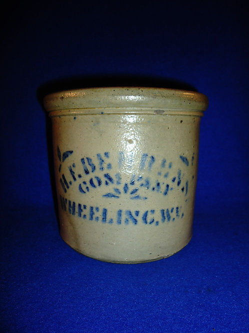 Behrens, Grocer, Wheeling, West Virginia Stoneware Tiny Butter Crock