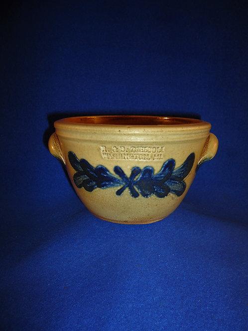 R. & B. Diebboll, Washington, Michigan Stoneware Bowl with Bird, #4714