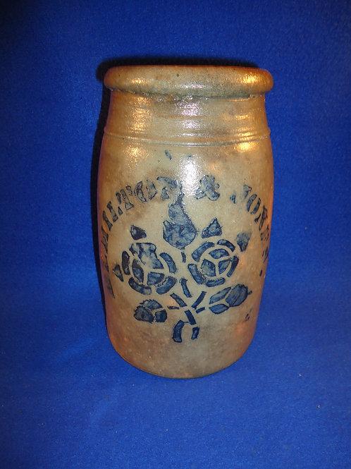 Hamilton & Jones, Greensboro, Pennsylvania Stoneware Wax Sealer with Roses