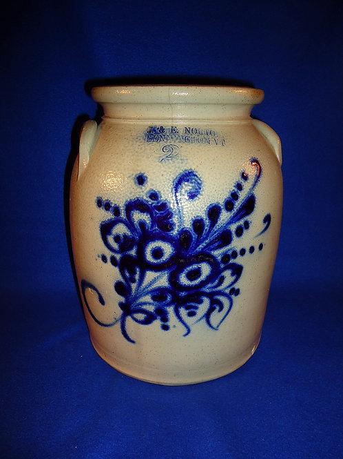 J. & E. Norton, Bennington, Vermont Stoneware 2g Preserve Jar