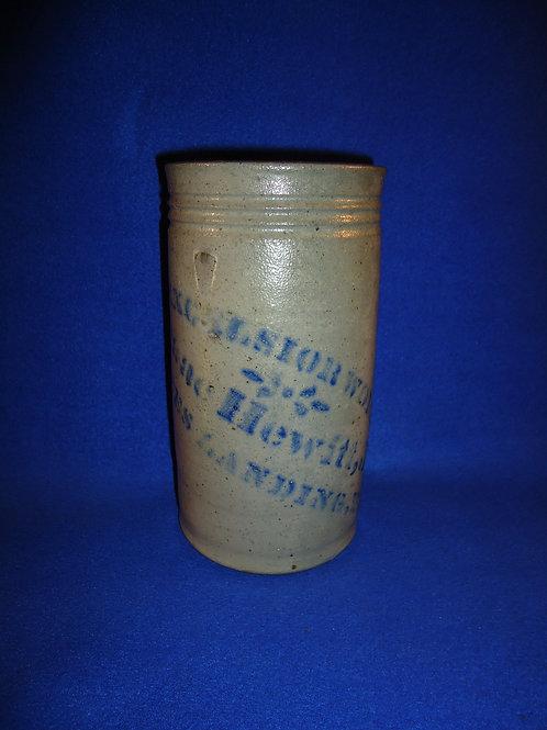 Isaac Hewitt, Rices Landing, PA Stoneware Wax Sealer #5315