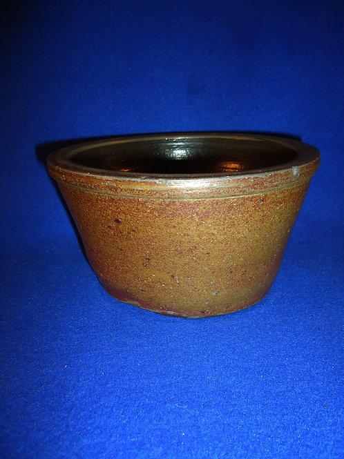 Small Primitive Antique Stoneware Bowl