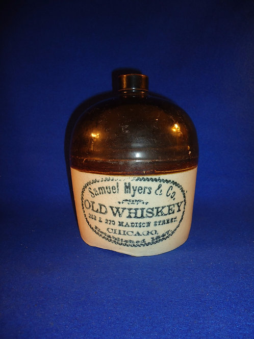 Samuel Myers, Whiskey, Chicago, Illinois 1/2 Gallon Stoneware Jug