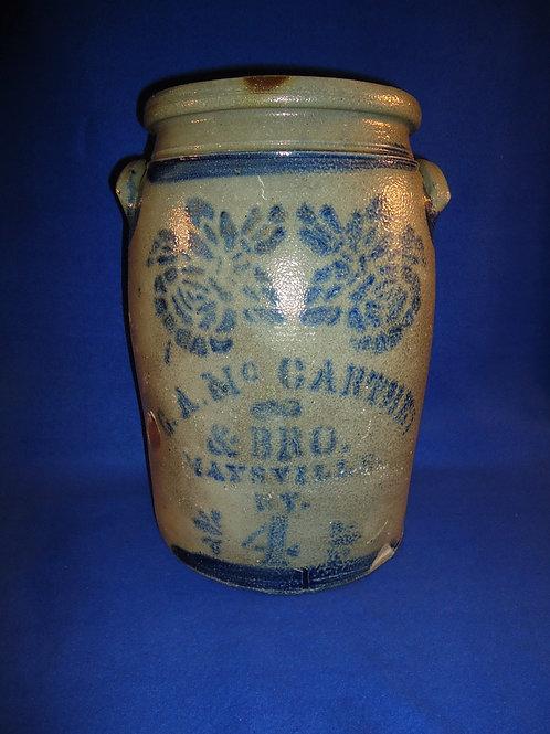 G. A. McCarthey, Maysville, Kentucky 4 Gallon Jar with Roses #5717
