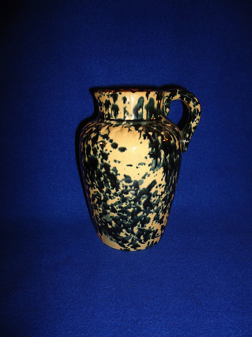 Yellow Ware Syrup Pitcher with Flow Sponging, att. Weeks of Akron, Ohio