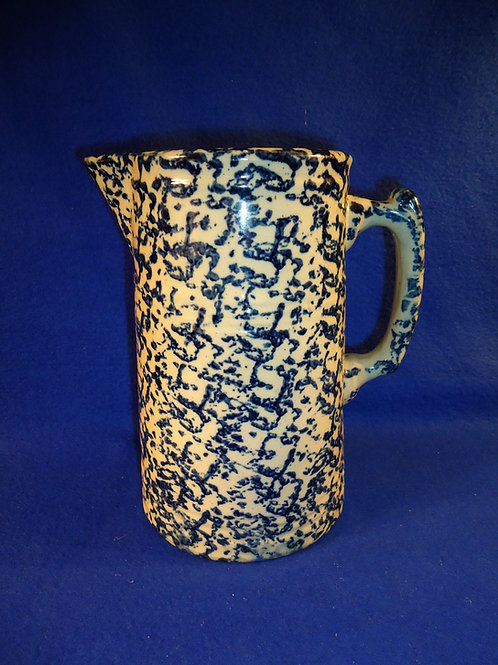 Red Wing Union Stoneware Blue and White Spongeware Pitcher