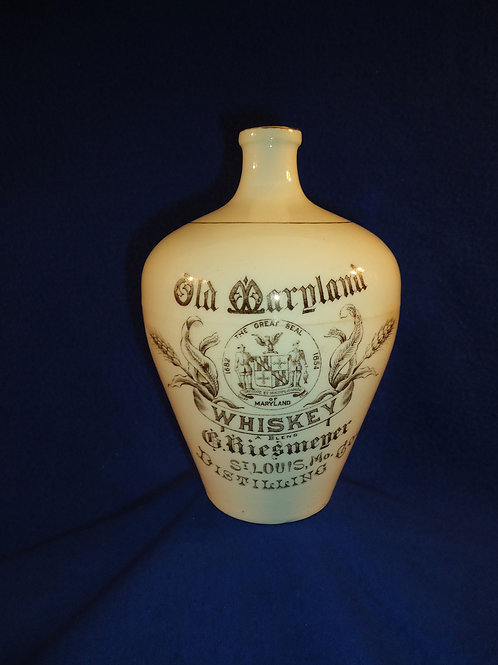 Old Maryland Whiskey Jug, Riesmeyer Distilliing of St. Louis