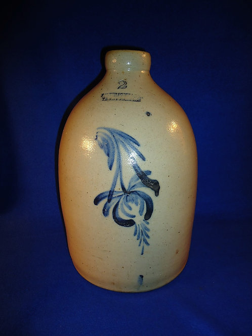 F. T. Wright & Son, Taunton, Massachusetts Stoneware Jug with Free Iris