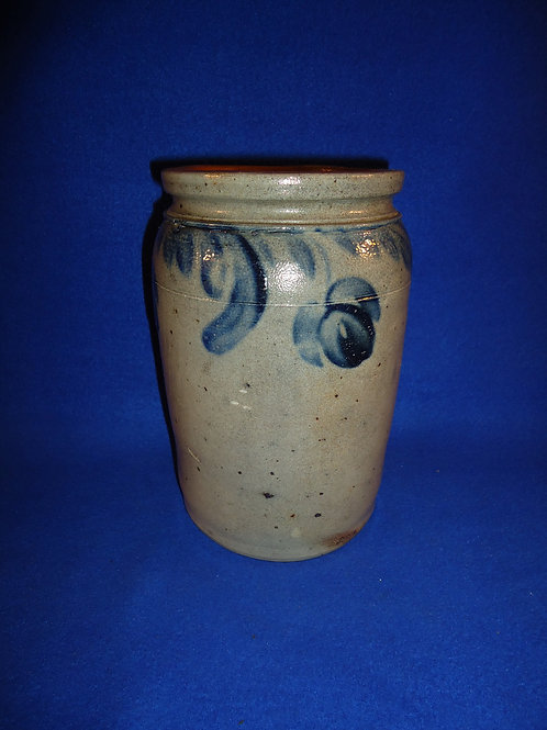 Circa 1860 Jar with Dangling Tulips, att. Baltimore, Maryland #5102