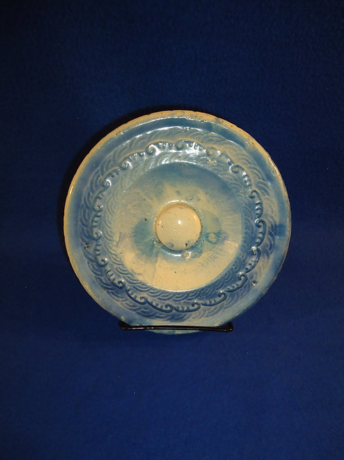Lid for a Blue and White Stoneware Apricot & Honeycomb Butter Crock #5386