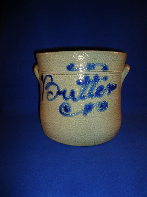 Mid 19th Century Stoneware Butter Crock from the Northeast