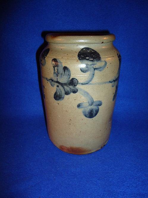 Circa 1840 1/2g Stoneware Jar, att. Henry Remmey, Jr. of Philadelphia
