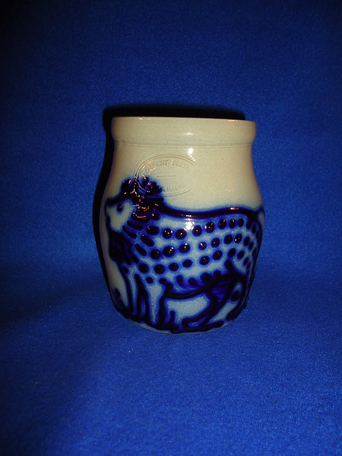 Beaumont Pottery, York, Maine Stoneware Jar with Lion #5042