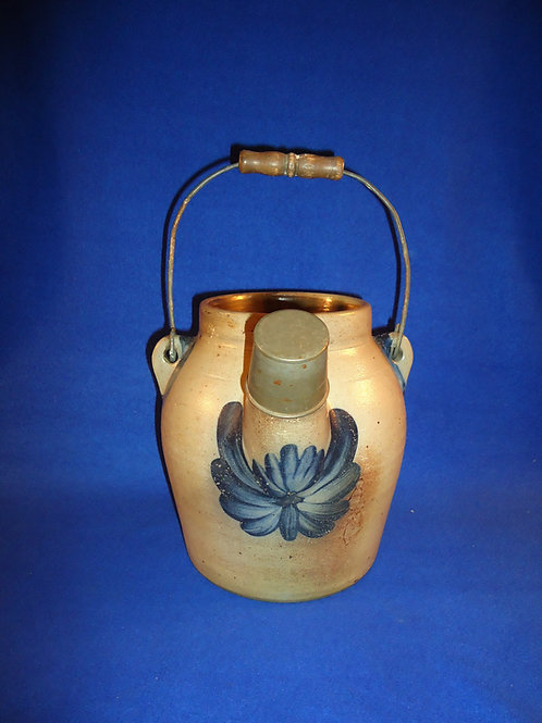 Cowden and Wilcox, Harrisburg, PA Stoneware Batter Jug with Chrysanthemums