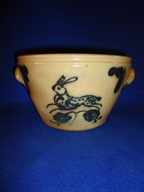 R. & B. Diebboll, Washington, Michigan Stoneware Bowl with Rabbit
